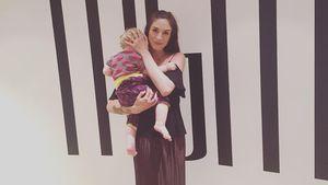 Tessa Bergmeier mit ihrem Baby