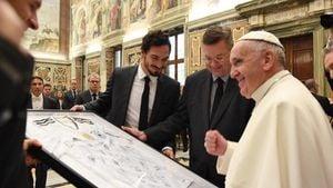 DFB-Privataudienz: Der Papst trägt jetzt Schwarz-Rot-Gold!