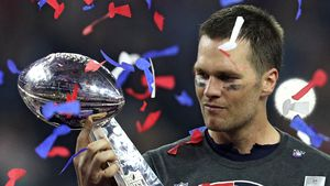Tom Brady beim Super Bowl 2017 in Houston
