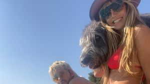 Badespaß: Hier planscht Heidi Klum mit den Kaulitz-Brüdern