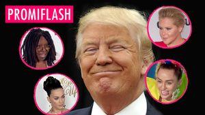 Trump gewinnt, Stars fliehen