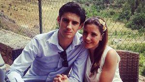 Víctor Barrio mit Ehefrau Raquel Sanz Lobo