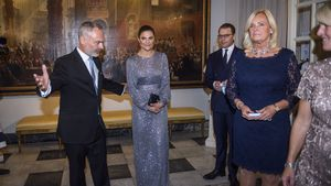 Prinzessin Victoria von Schweden begeistert im Glitzerkleid