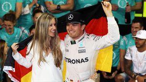 Vivian und Nico Rosberg nach seinem WM-Sieg 2016