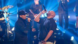 Xavier Naidoo und Moses Pelham beim X-Factor-Finale 2012