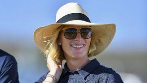 Strahlend schön: Zara Phillips präsentiert ihre Baby-Kugel