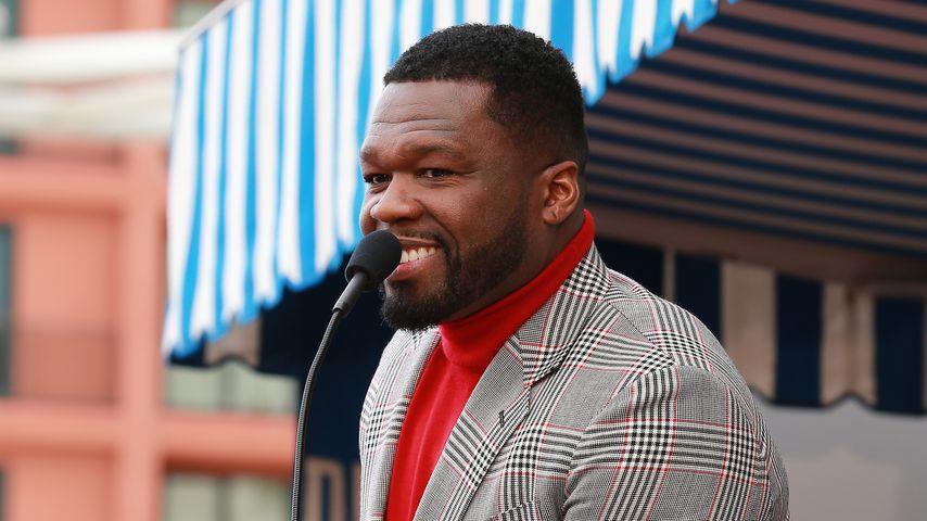 """50 Cent bei seiner """"Walk of Fame""""-Zeremonie in Hollywood im Januar 2020"""