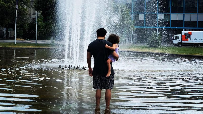 Adel Tawil und seine Tochter in Berlin im Juli 2021