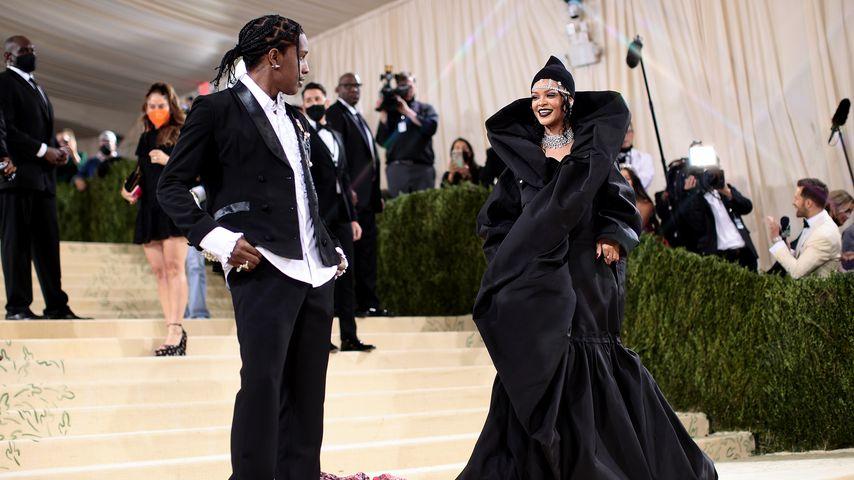 A$AP Rocky und Rihanna bei der Met Gala im Septmeber 2021