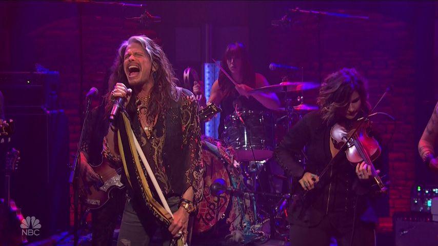 """Aerosmith""-Frontmann Steven Tyler bei ""Late Night With Seth Meyers"""
