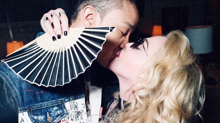 Ahlamalik Williams und Madonna in London im Februar 2020