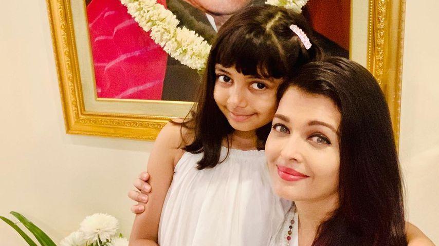 Aishwarya Rai Bachchan mit ihrer Tochter, März 2020