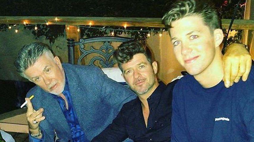 Schauspieler Alan Thicke mit seinen Söhnen Robin und Carter