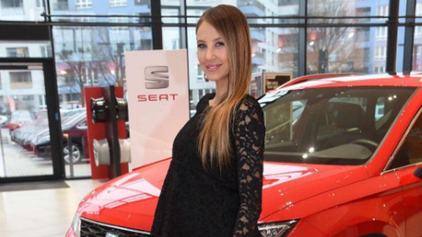 Alessandra Meyer-Wölden mit Babybauch