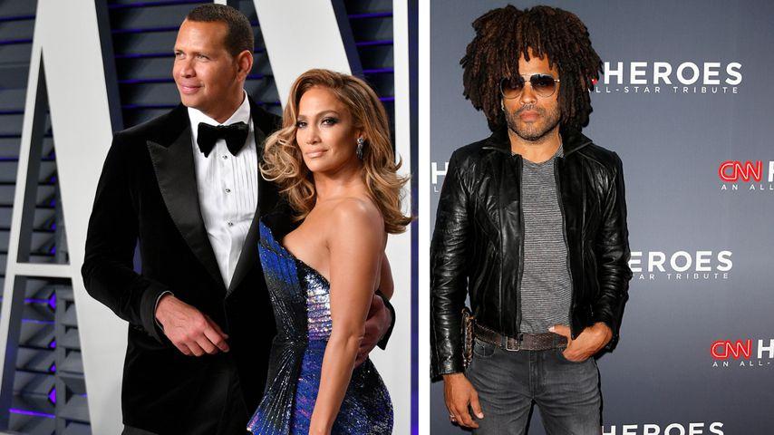 Während Krise mit A-Rod: Kommt J.Lo Lenny Kravitz näher?
