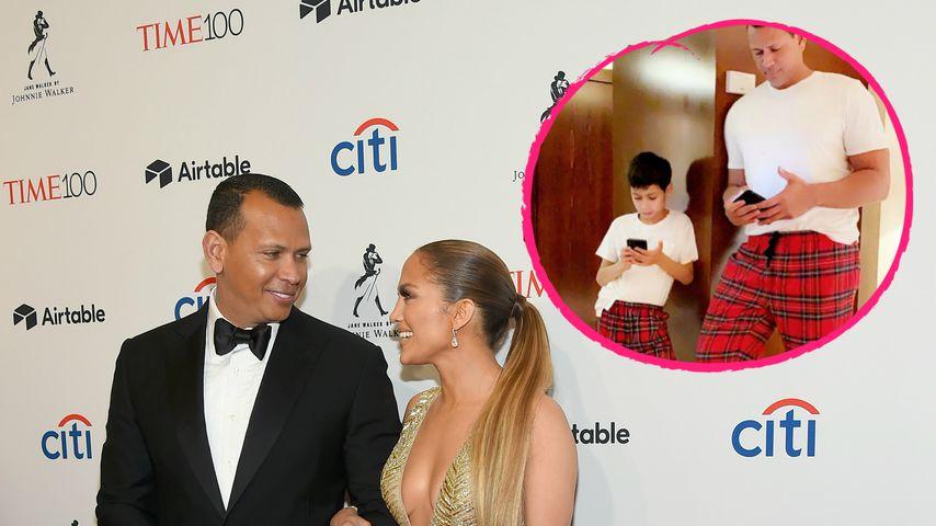 Süßer Twin-Moment: Alex Rodriguez und JLos Sohn in Pyjamas!
