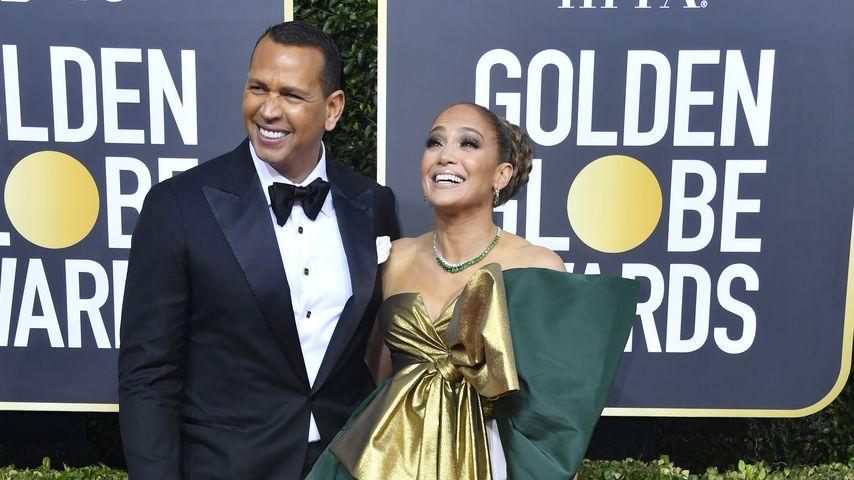 Alex Rodriguez und Jennifer Lopez bei den Golden Globes 2020