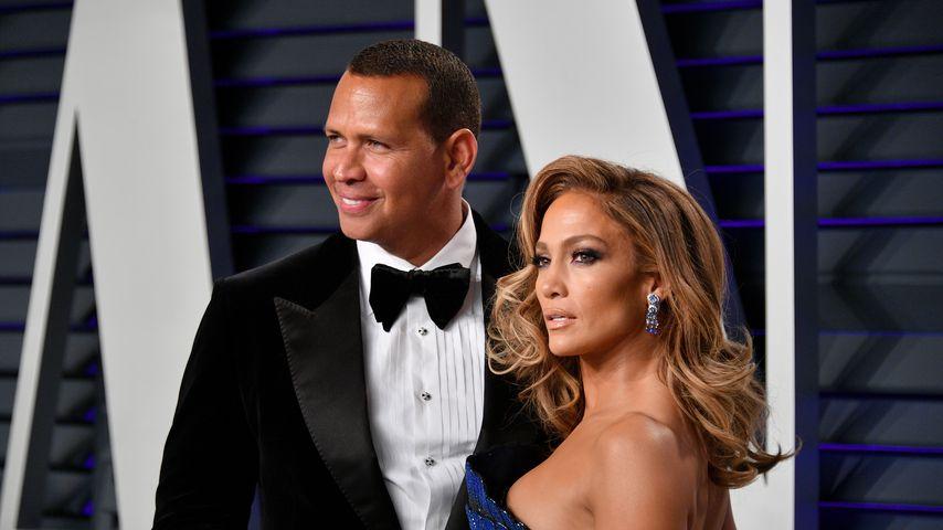 Alex Rodriguez und Jennifer Lopez bei der Vanity Fair Oscar Party 2019