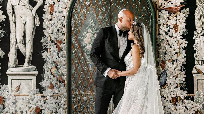 Alexander Beliaikin und Kim Gloss bei ihrer Hochzeit
