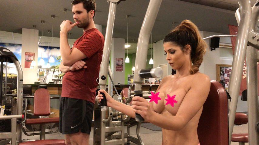Nackt im Gym: Erotik-Fitness mit Micaela Schäfer & Honey!