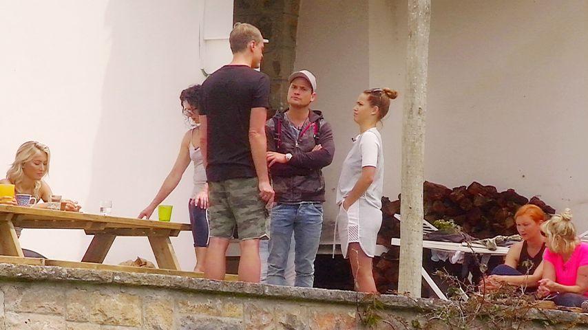 """Alexander Posth, Rocco Stark und Angelina Heger im """"Sommerhaus der Stars"""""""