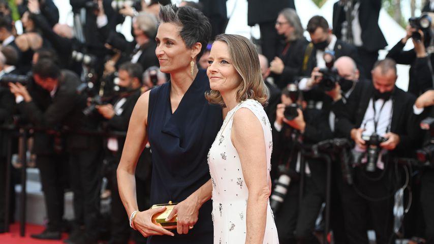 Alexandra Hedison und Jodie Foster in Cannes, Juli 2021