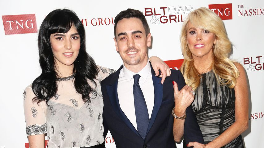 Ali, Michael Jr. und Dina Lohan in New York