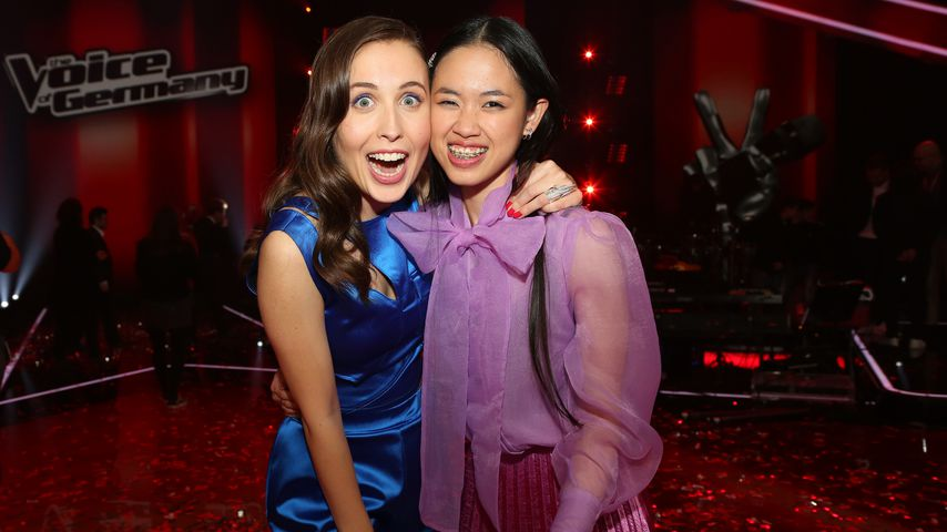 "Alice Merton und Claudia Emmanuela Santoso nach dem ""The Voice of Germany""-Finale 2019"