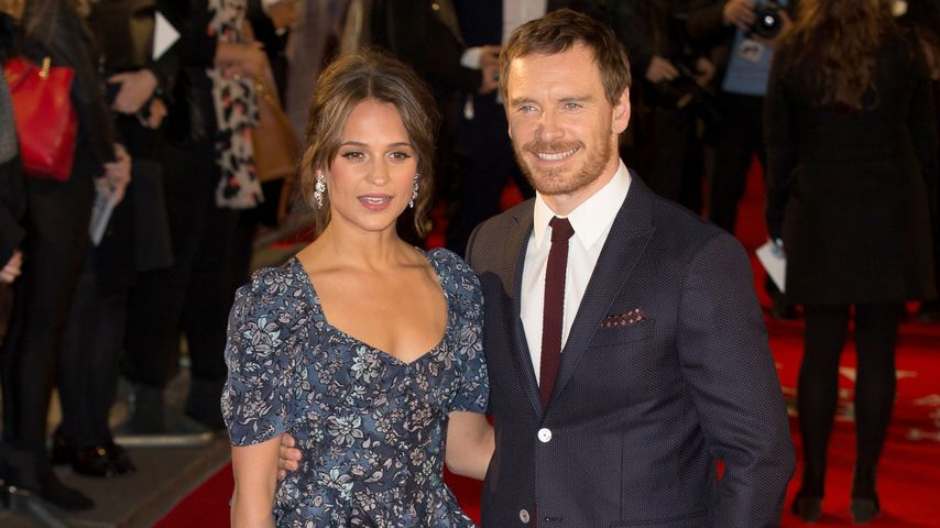 "Alicia Vikander und Michael Fassbender bei der ""The Light Between Oceans""-UK-Premiere"