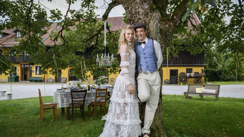 """Alicia (Larissa Marolt) und Viktor (Sebastian Fischer), """"Sturm der Liebe""""-Paar, Staffel 14"""