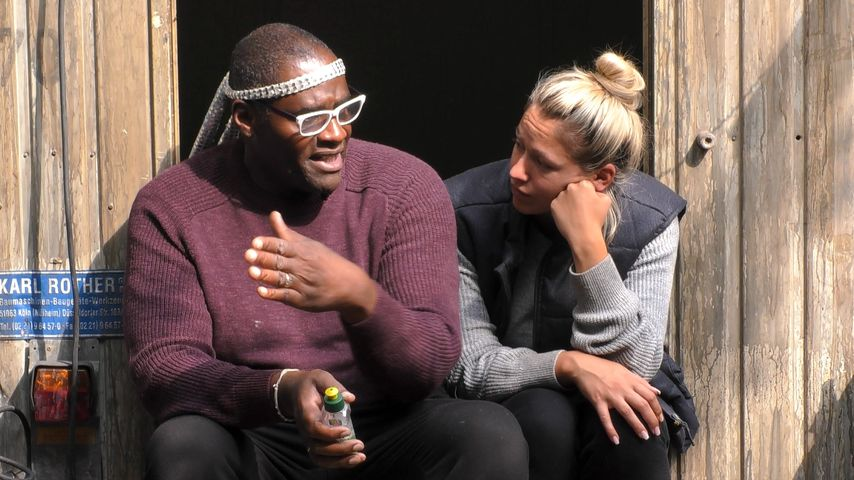"Alphonso Williams und Chethrin Schulze bei ""Promi Big Brother"" 2018"