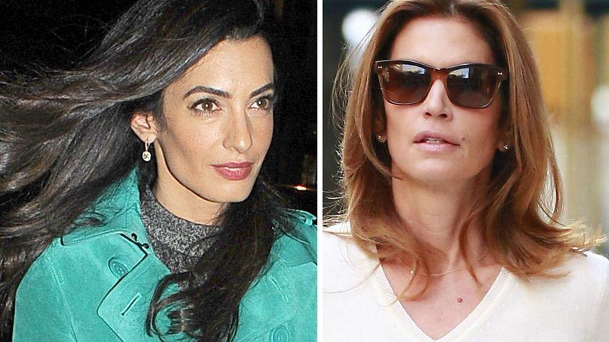 Fehde! Amal Clooney hat keinen Bock auf Cindy Crawford