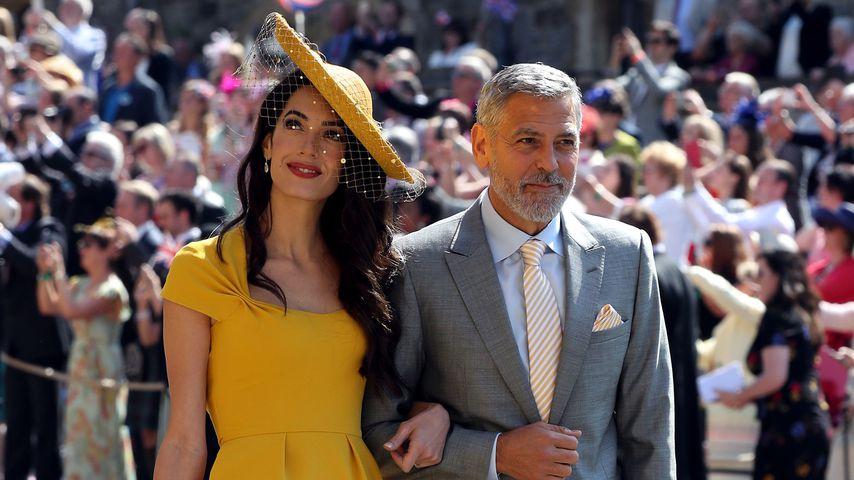Amal und George Clooney bei Prinz Harry und Meghans Hochzeit in Windsor