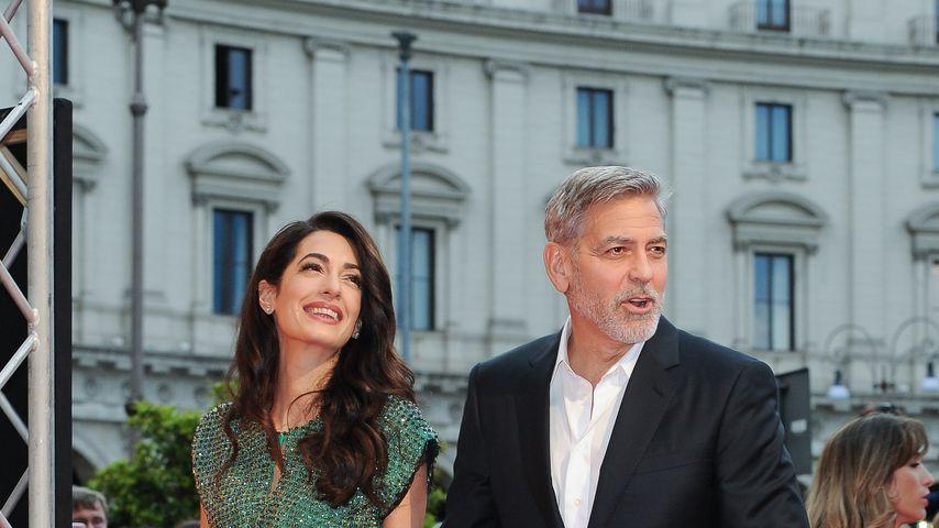 """Amal und George Clooney bei der """"Catch-22""""-Premiere in Rom"""