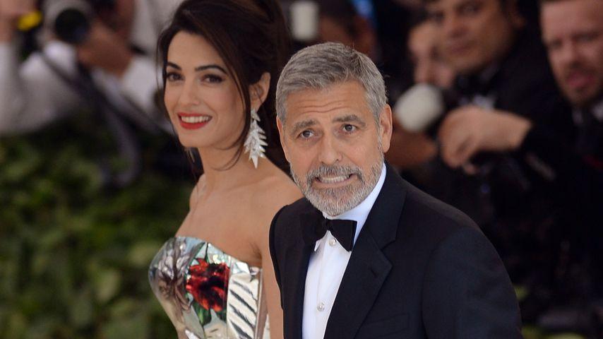 Amal und George Clooney auf der Met-Gala 2018