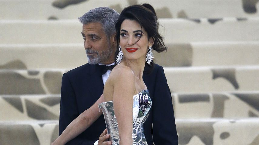 Amal und George Clooney in New York City