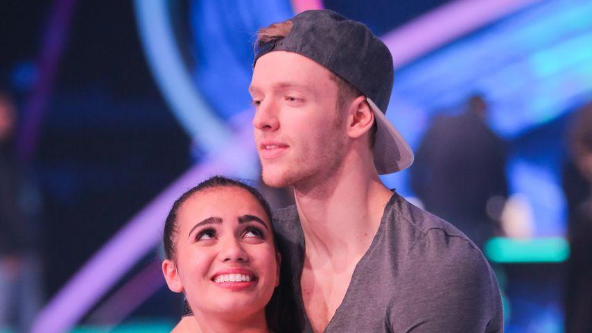 """Amani Fancy und Timur Bartels bei der ersten """"Dancing on Ice""""-Folge"""