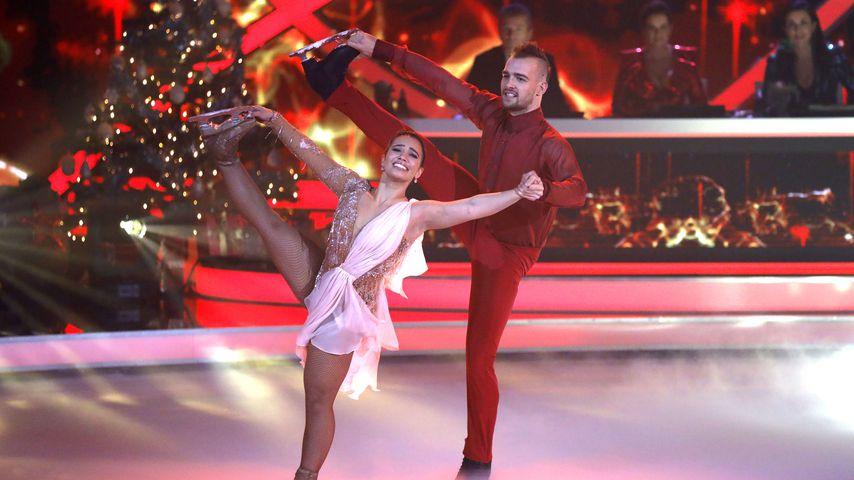 Amani Fancy und Eric Stehfest auf dem Eis