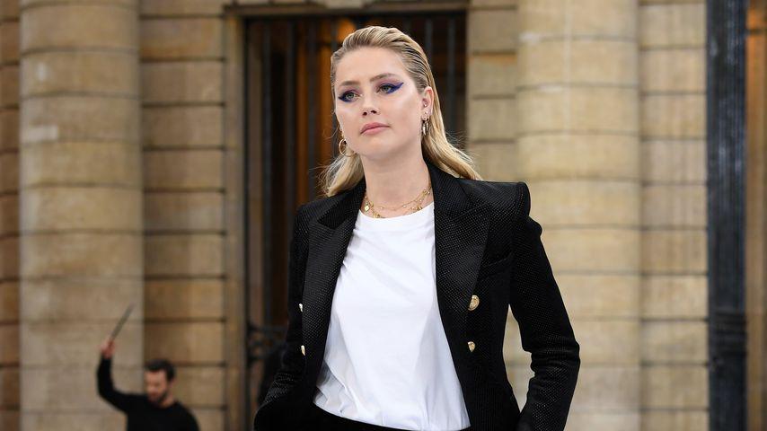Amber Heard auf der Paris Fashion Week, September 2019