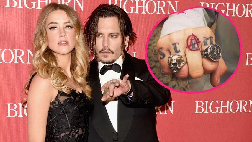 Nach Amber-Pleite: Johnny Depp übersticht Tattoo erneut