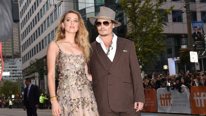 Amber Heard und Johnny Depp im Jahr 2015