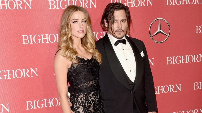 Amber Heard und Johnny Depp bei der Palm Springs International Film Festival Awards Gala, 2016