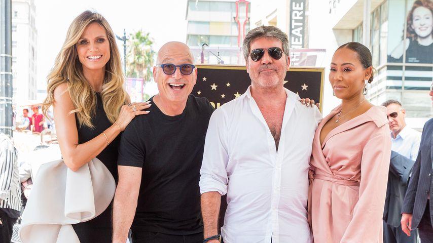 """America's Got Talent""-Jury Heidi Klum, Howie Mandel, Simon Cowell und Mel B."