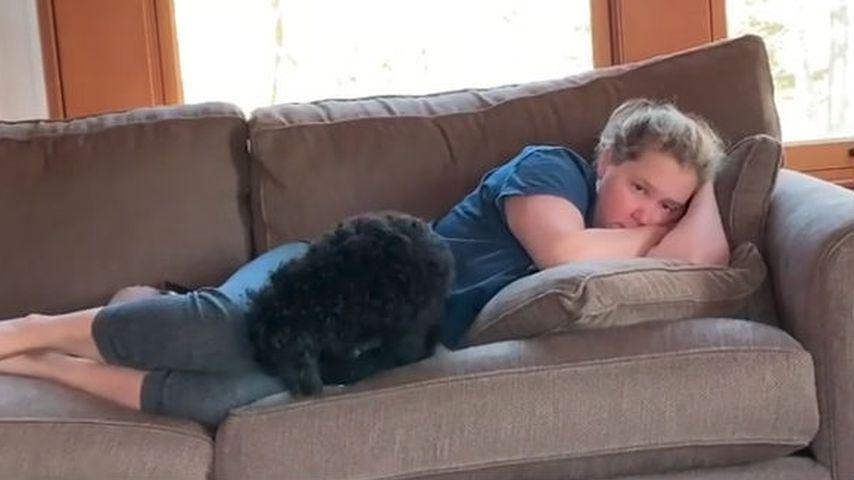 Amy Schumer mit ihrem Hund