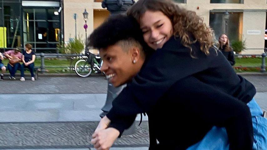 Anastasia Blevins mit ihrem Freund, Juli 2020