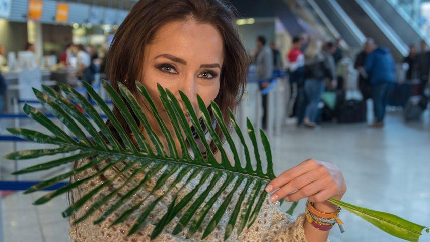 Anastasiya Avilova am Frankfurter Flughafen