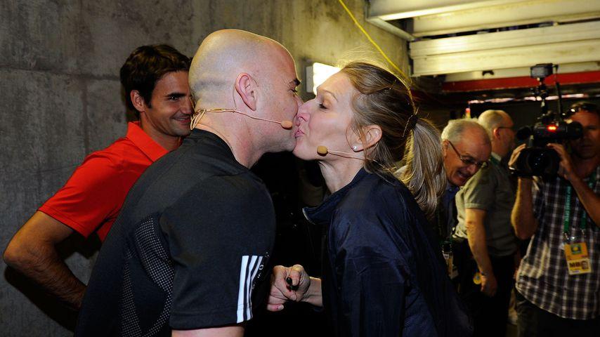 Andre Agassi und Steffi Graf bei den BNP Paribas Open in Kalifornien