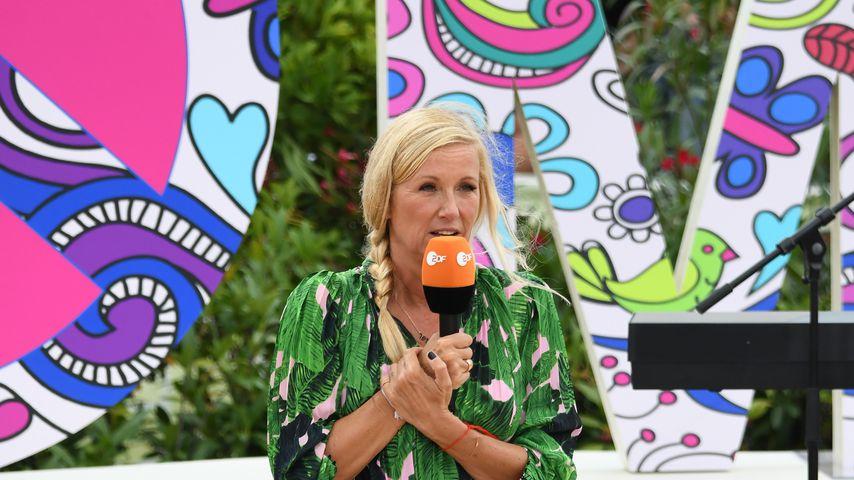 "Andrea Kiewel beim ""ZDF-Fernsehgarten"""