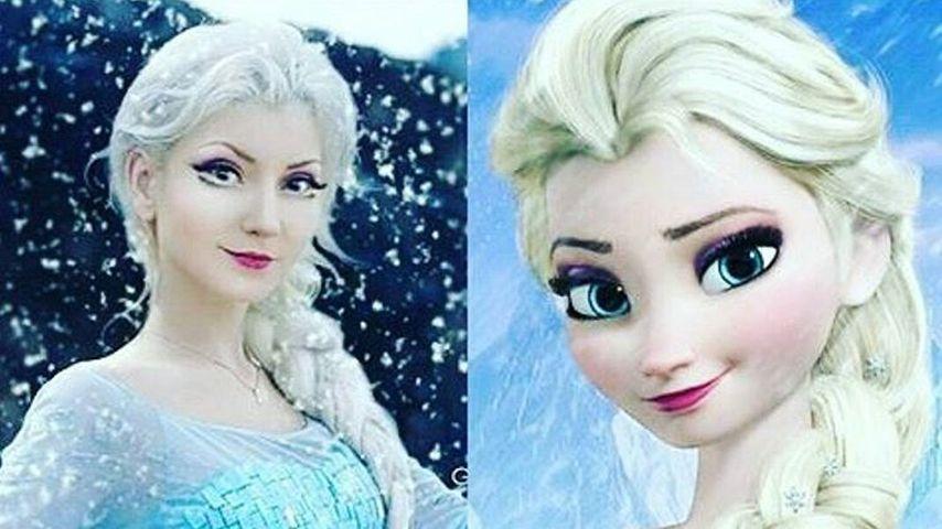 Andressa Damiani Valcanaia und Elsa von Frozen