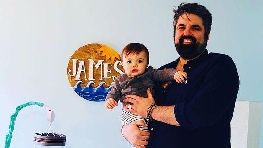 Andrew Glennon mit seinem Sohn James